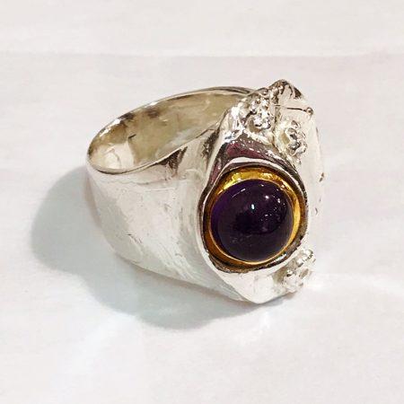 Sternenstaub-Ring mit Amethyst